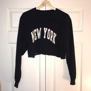Cropped Brandy Melville New York sweater